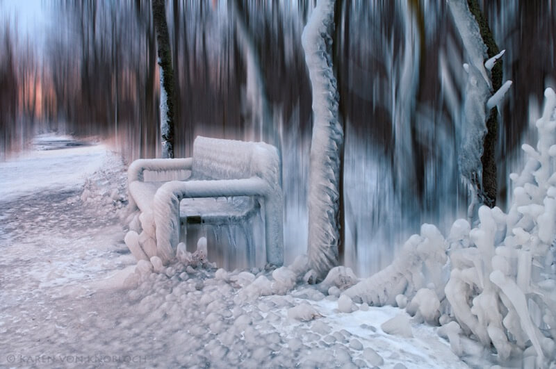 frozen bench