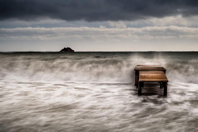 Storm at Pinarello beach