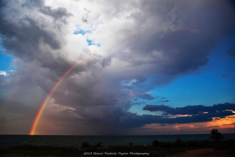 Sherri Yezbick-Taylor - Rainbow Over Lake Huron