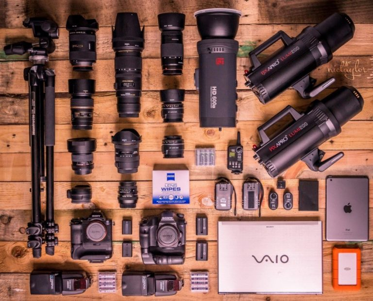 organized photo gear