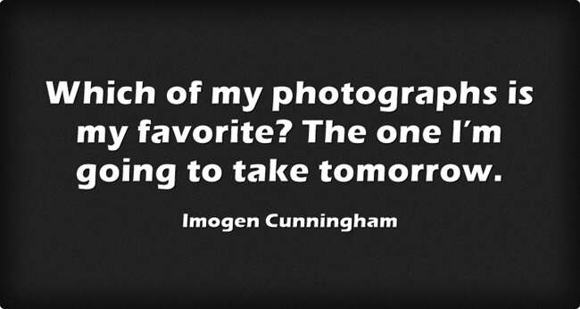 photography quote imogen cunningham