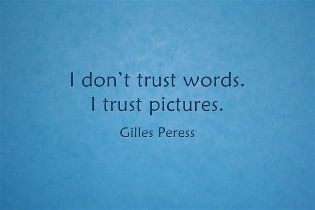 photography quote Gilles Peress