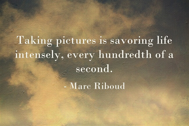 photography quote Marc Riboud