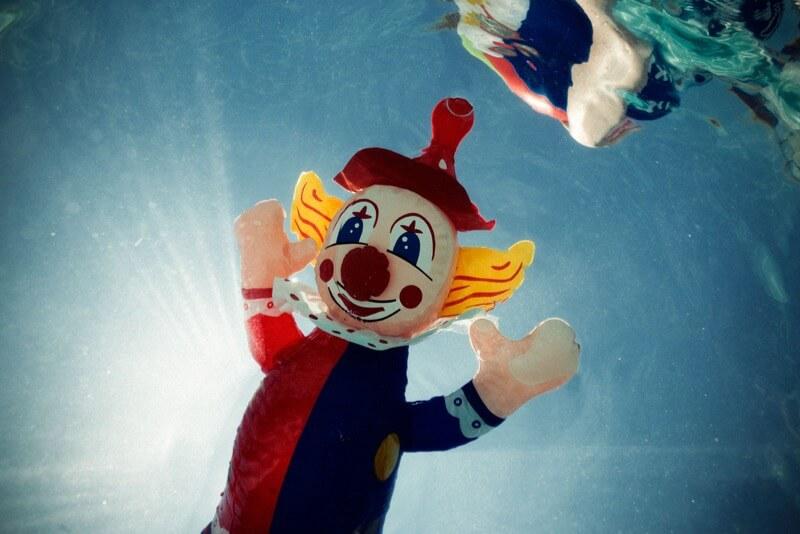 ricky montalvo doll in water