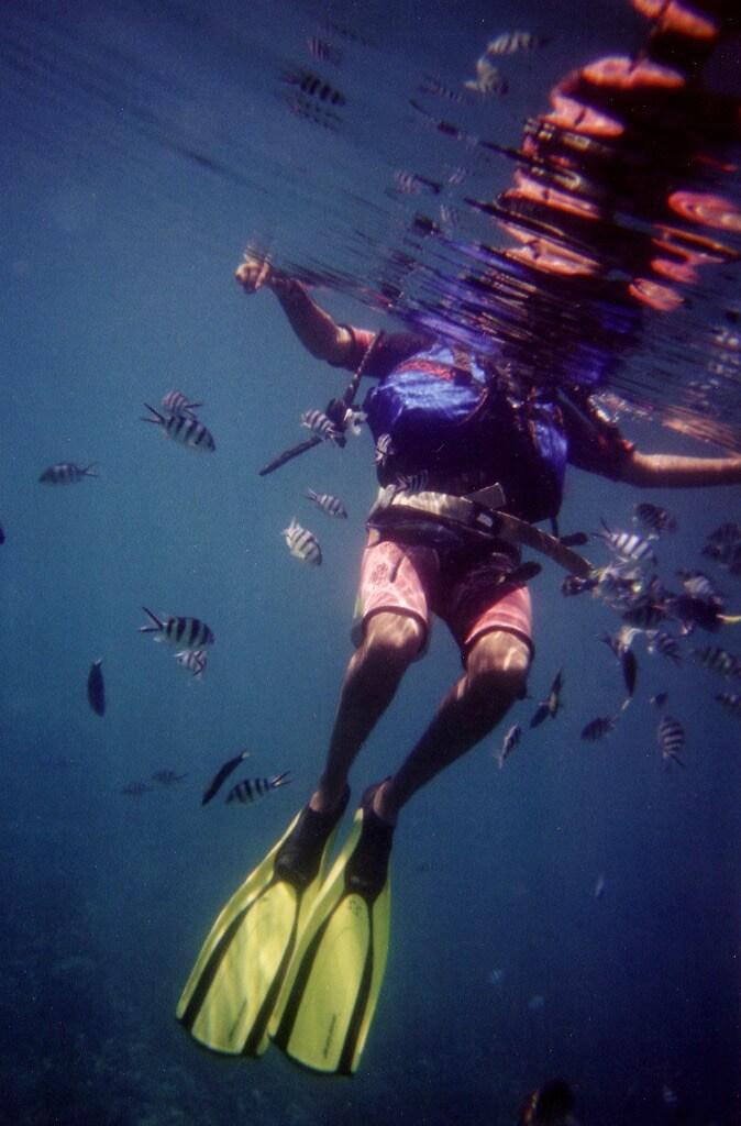 Charlie Marshall - floating diver