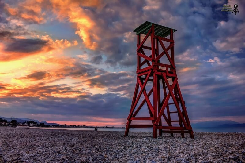 Theseus Troizinian - Lifeguards tower. Beach of Vrachati