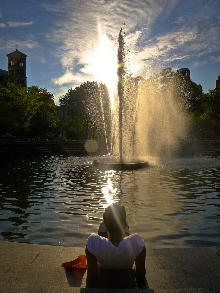 B.C. Lorio - Washington Square Fountain