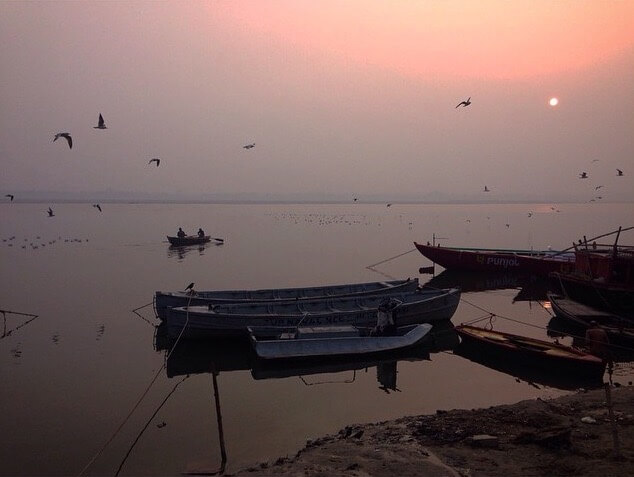 Sunrise on Ganga river