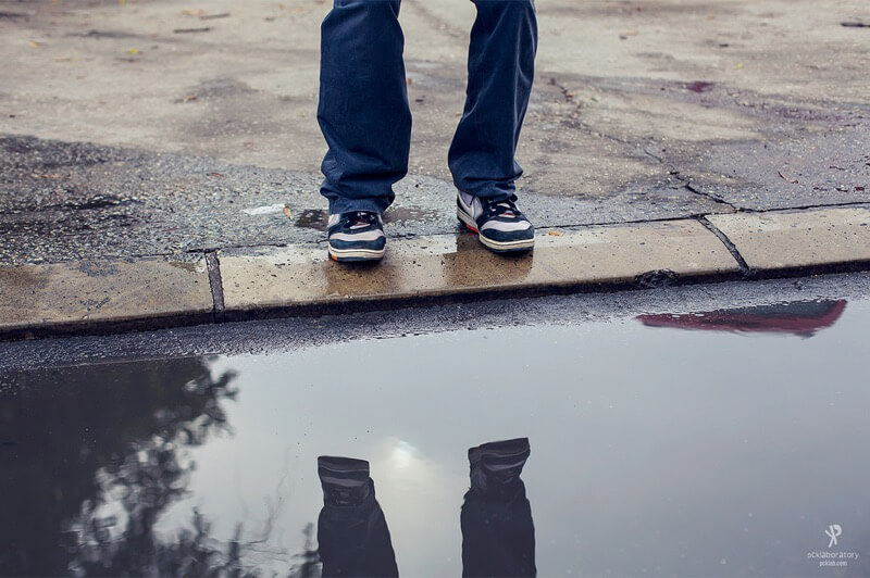Yane Naumoski puddle reflection