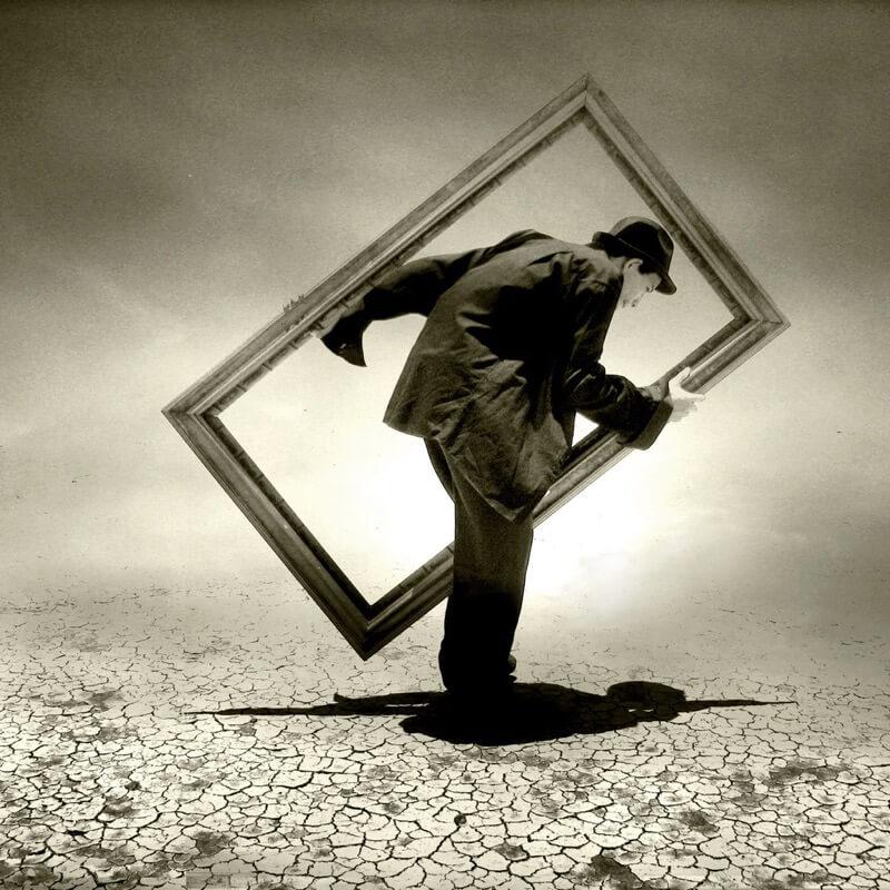 Saul Landell man picture frame