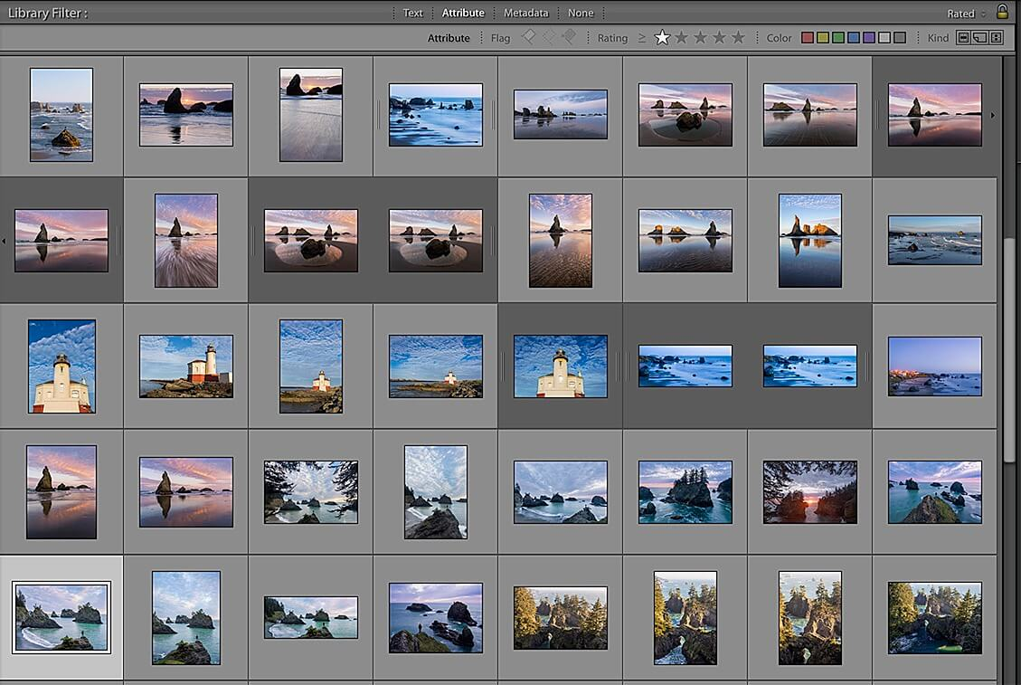 organizing photos in lightroom