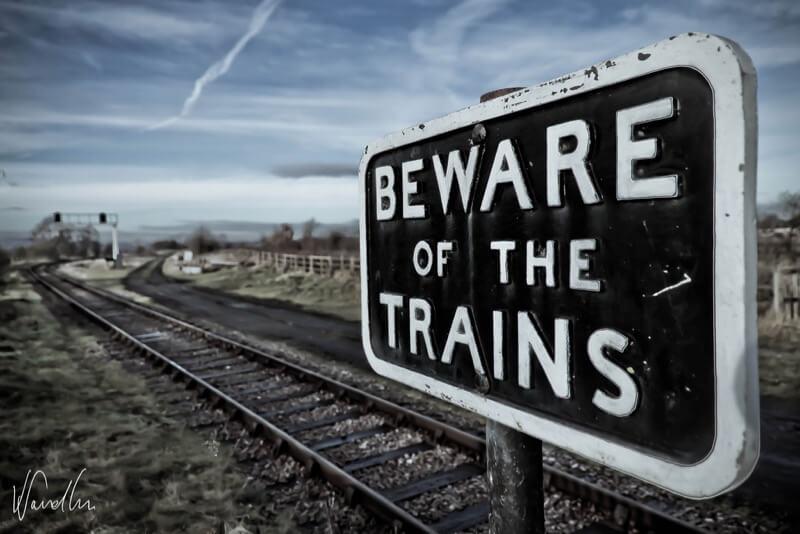 Vikas Sandhu - Beware of the trains sign