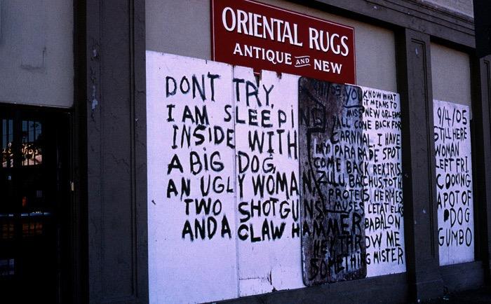 Gilbert Mercier - New-Orleans post Katrina Sept. 2005