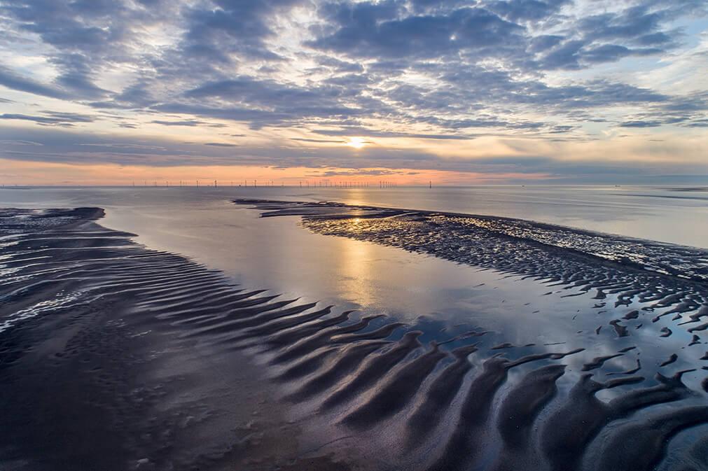 Sand flats sunset