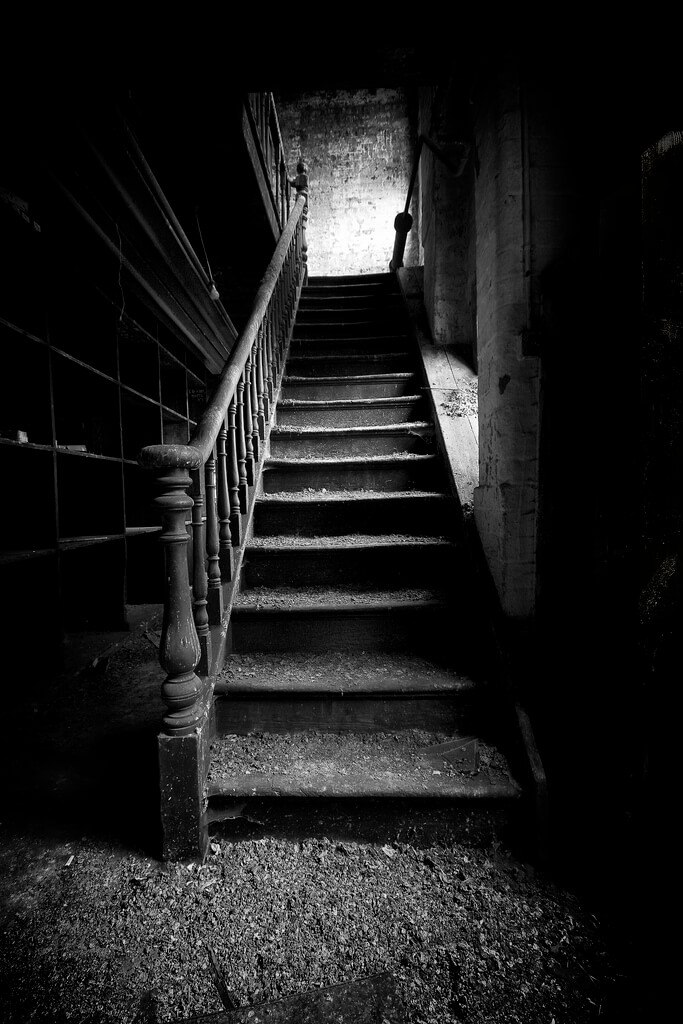 James Drury - creepy stairs