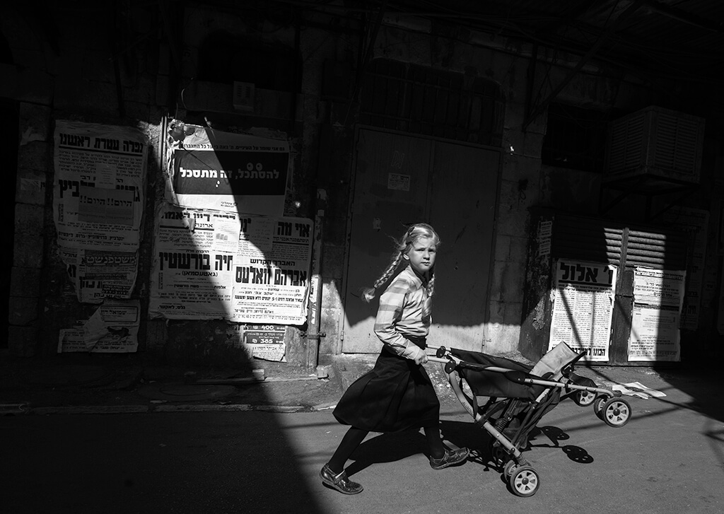 ilan Ben yehuda girl pushing stroller