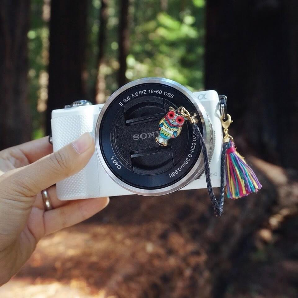 Emerald Owl Camera Lens cap holder Cocowerk