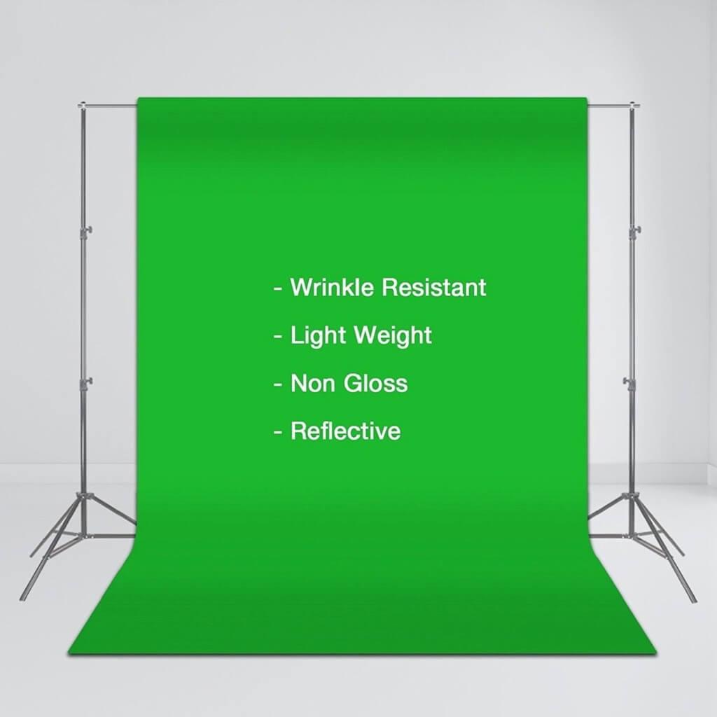 LimoStudio 9 x 15 ft. Green Chromakey Muslin Backdrop Background Screen