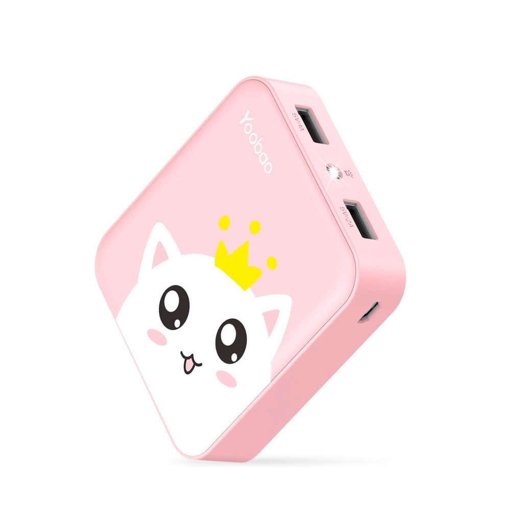 Yoobao Portable Charger 10000mAh cat pattern