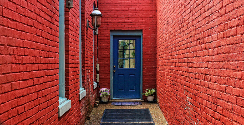 B D Scott - Red/Blue alleyway
