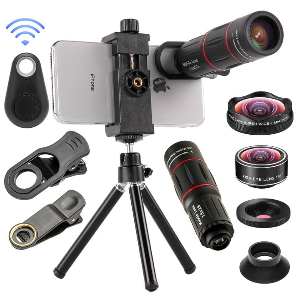 4 in 1 Cell Phone Camera Lenses Kit