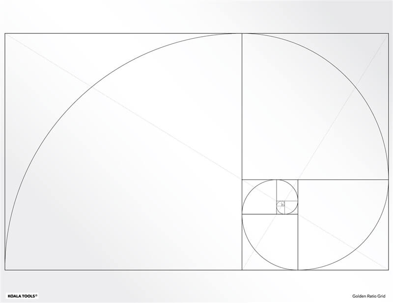 Koala Tools - Golden Ratio Grid Transparency Sheet