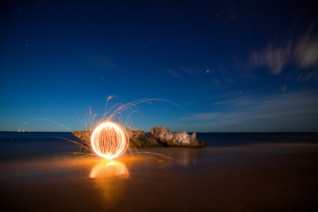 Stephen Humpleby - Bennion Beach light painting