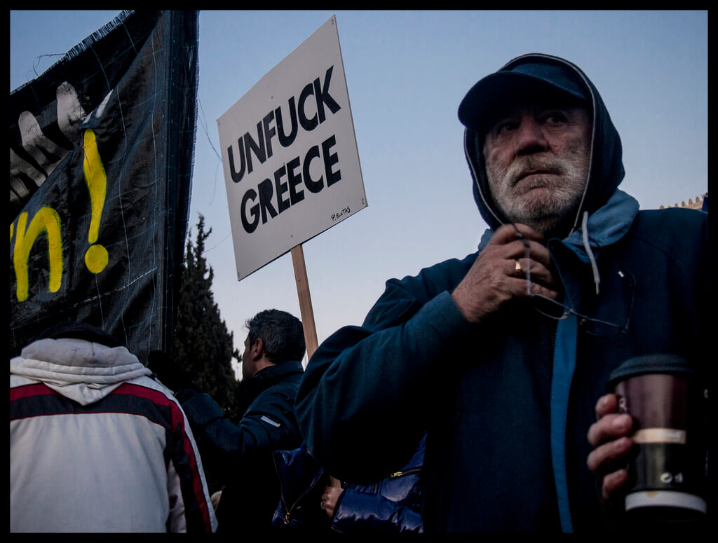 unfuck greece protest