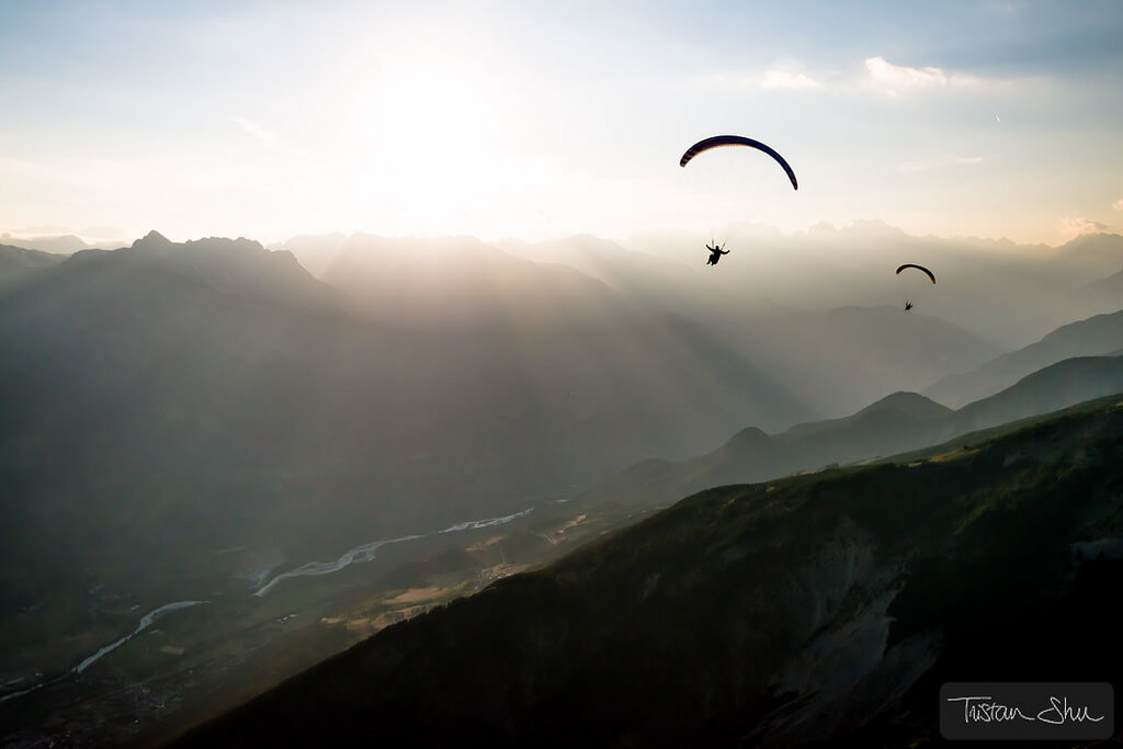 Tristan Shu Lebeschu - paragliding silhouette