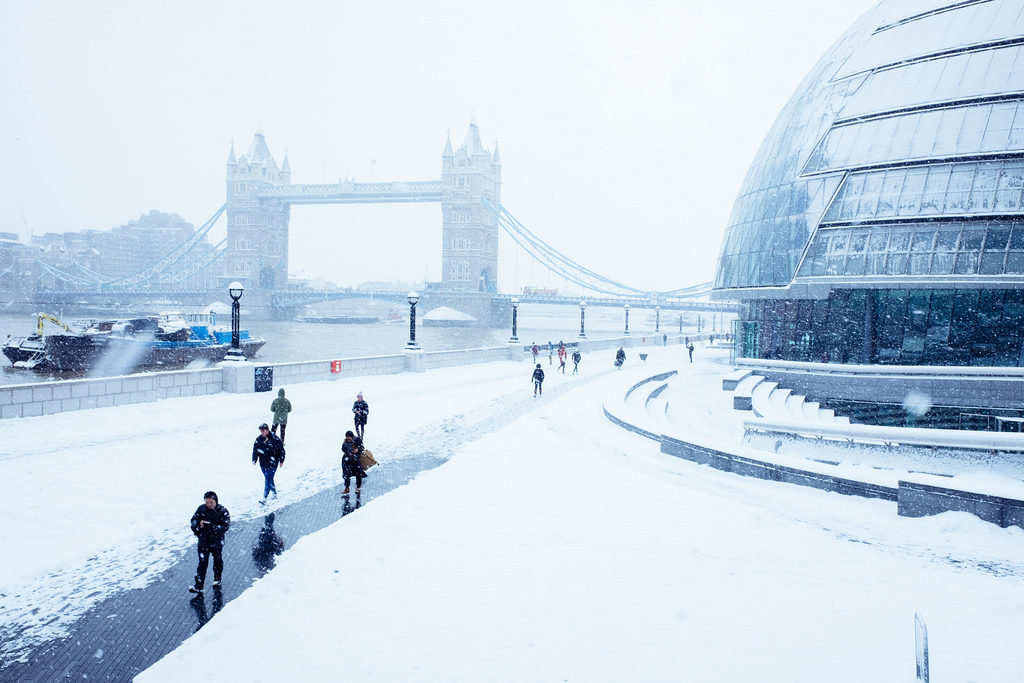 Snow, Tower Bridge
