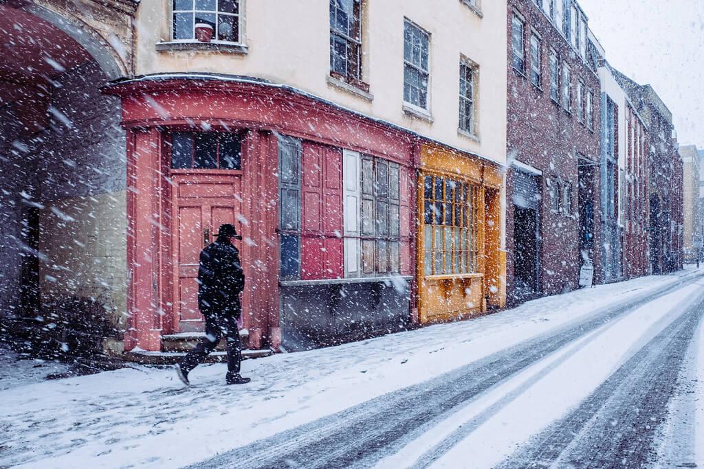 Snow, Bermondsey Street