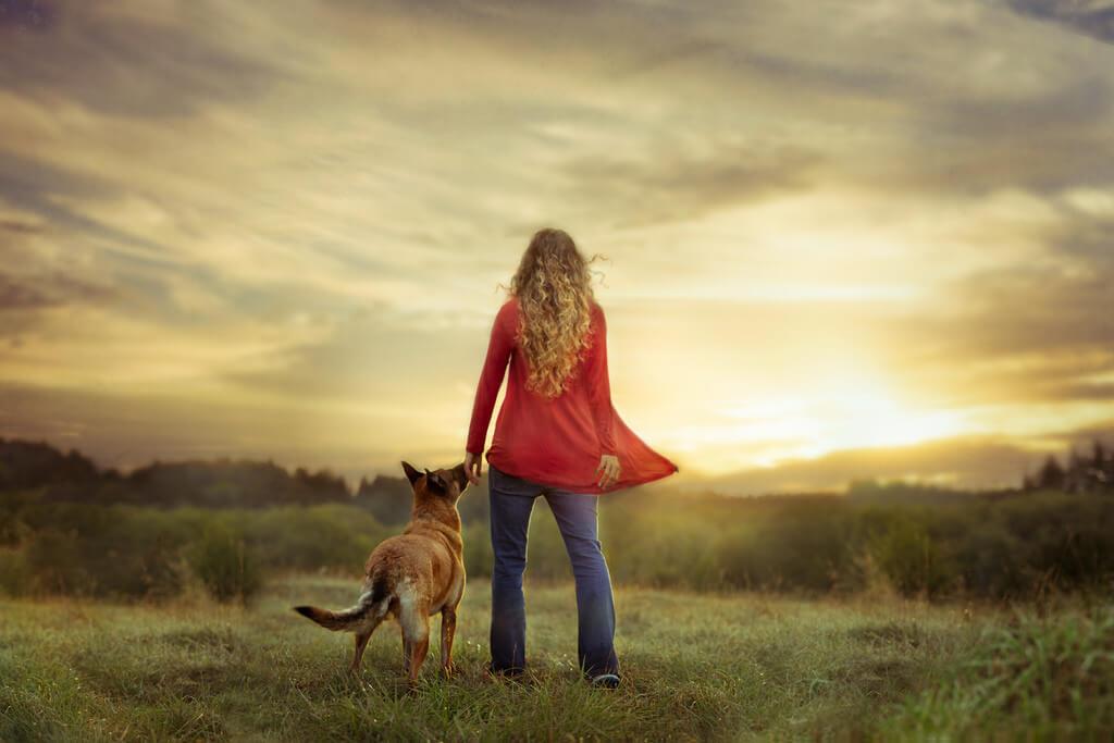 Katie McLellan dog and woman