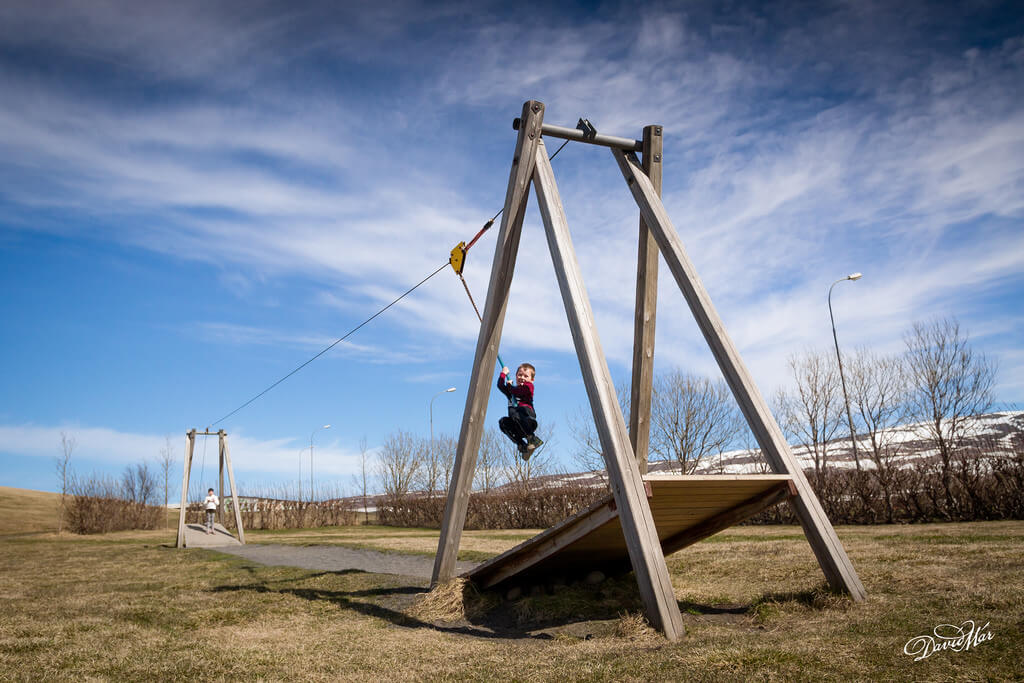 David Mar Sigurdsson - Viktor Smári zipline Blönduós Iceland
