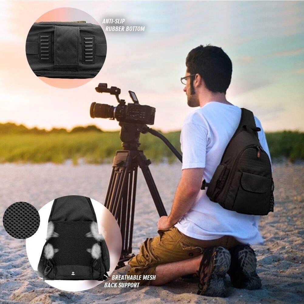 DSLR Camera Bag Waterproof Camera Sling Backpack