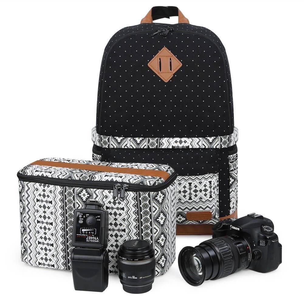 Koolertron Professional Women Canvas Camera Case/Backpack