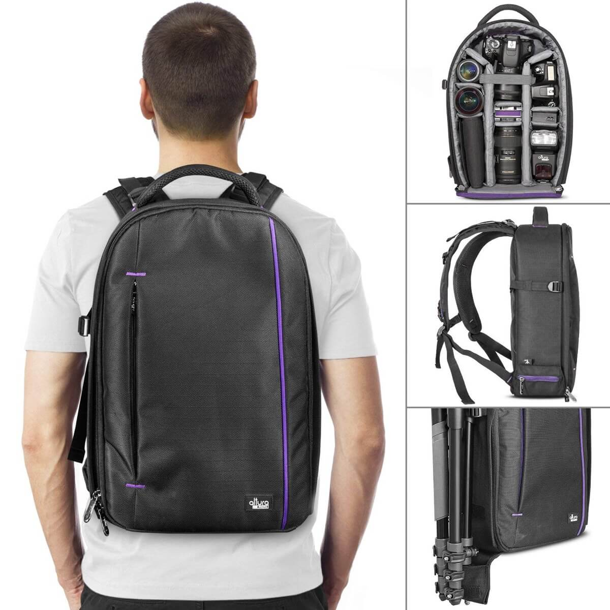 DSLR Camera and Mirrorless Backpack Bag by Altura Photo
