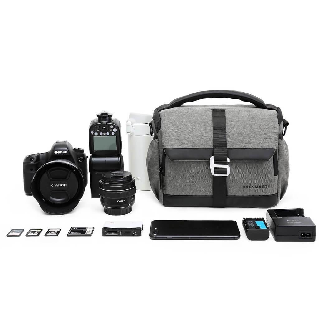BAGSMART DSLR/SLR Camera Shoulder Bag Compact Gadget Bag