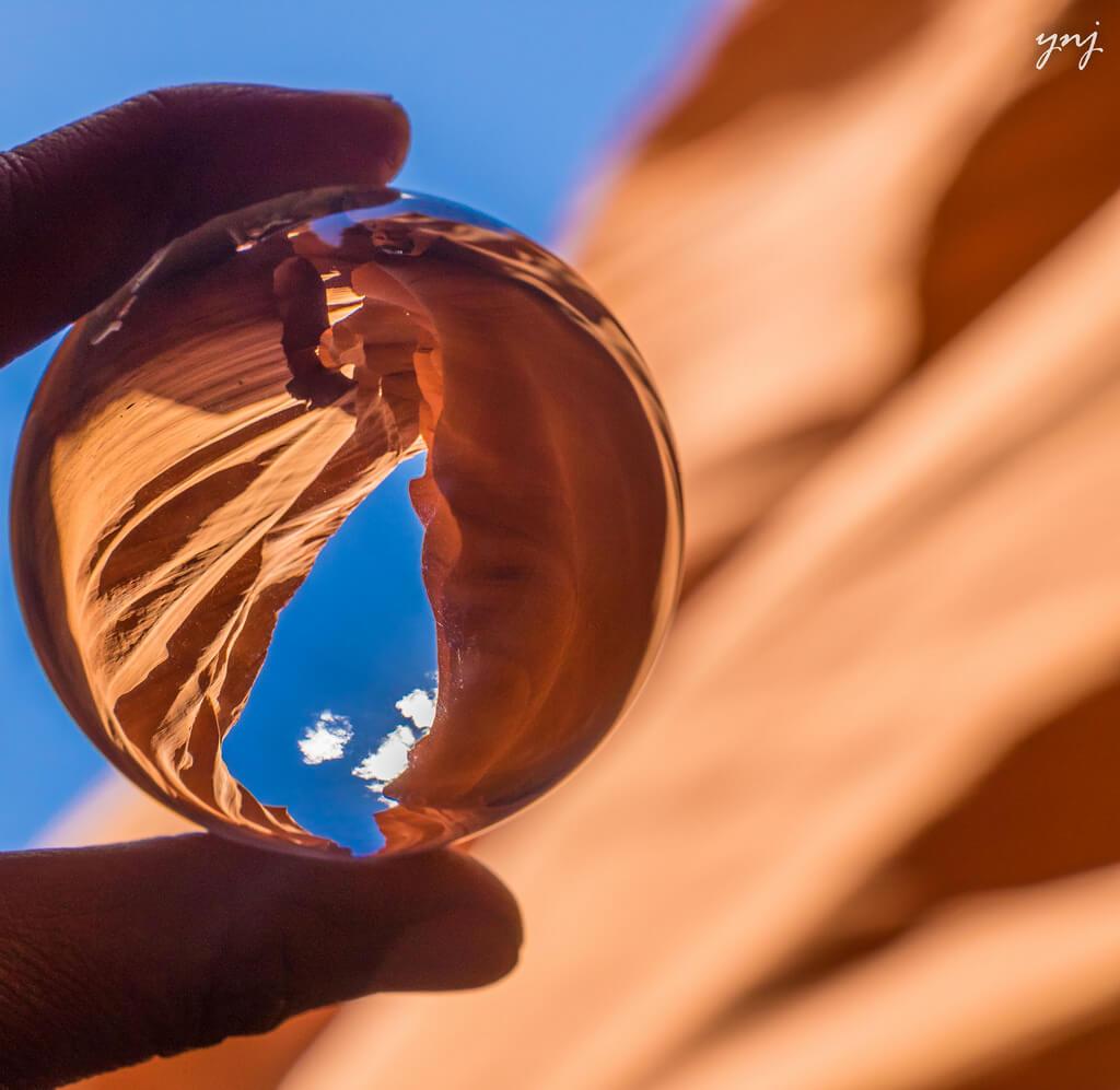 Yogendra Joshi - Antelope Canyon in a Crystal Ball
