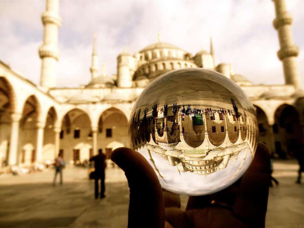 Rajeev Rajagopalan - blue mosque crystal ball