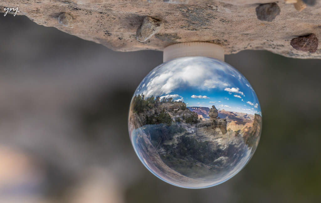 Yogendra Joshi - Grand Canyon inside Crystal Ball