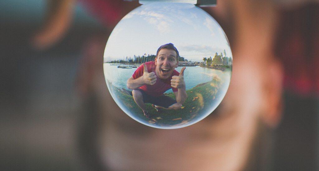 Steven Worster - self portrait in crystal ball