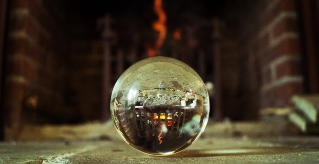Phil Dolby - fireplace in crystal ball