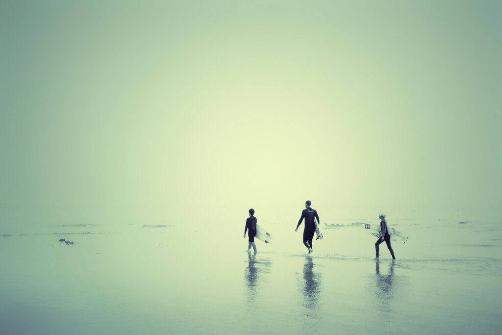 Sharon LuVisi - surfers wading