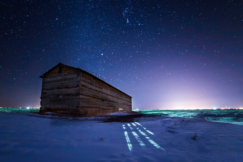 Scott Ackerman - barn starry sky