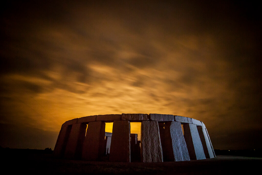 Stephen Humpleby - Stone Henge at night