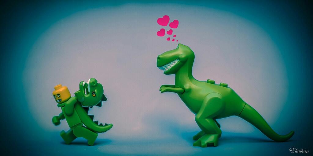 pixlilli - Lego Dinosaur Love