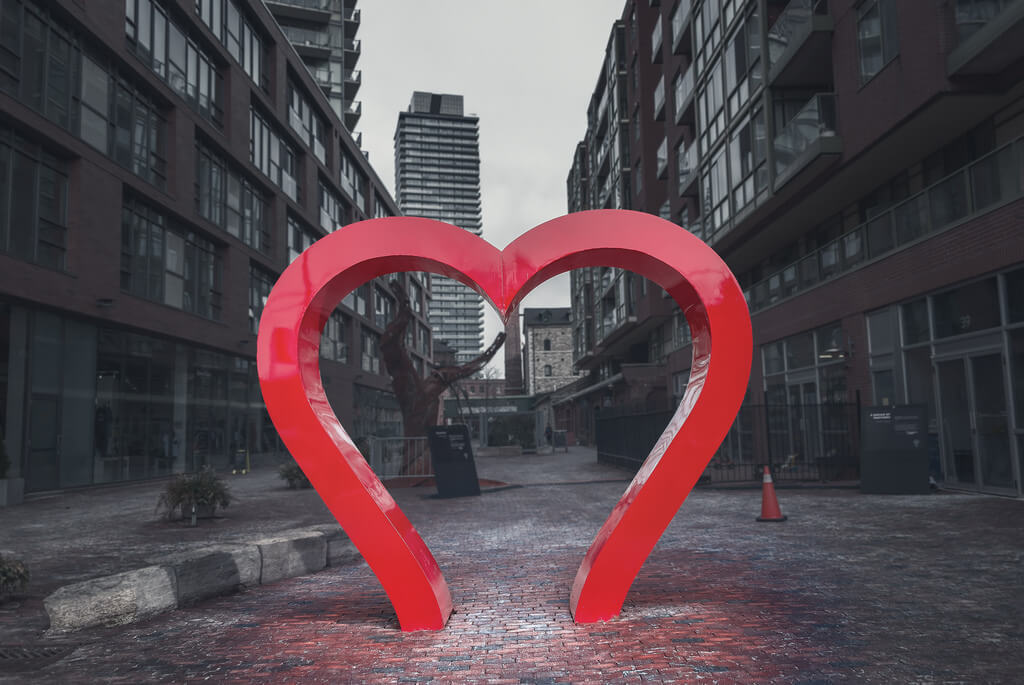Ken Lane - The Distillery Historic District Heart Art (Toronto, Ontario)