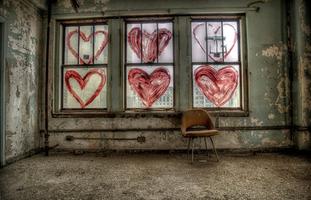 Brian Rome - metro heart graffiti