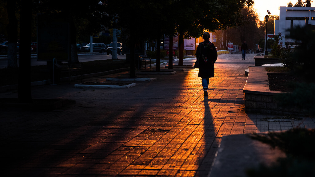 Giuseppe Milo - Sunset in Tiraspol - Moldova - Street photography