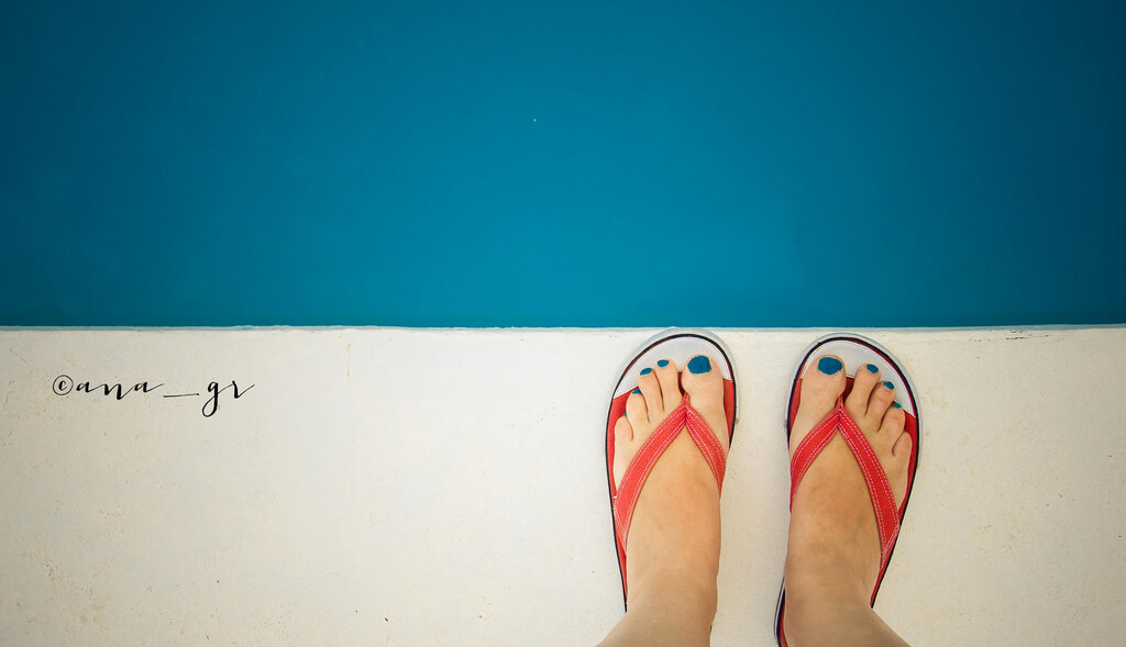 Ana GR - orange flip flops